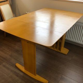 NITORI 伸長式ダイニングテーブル+イスセット