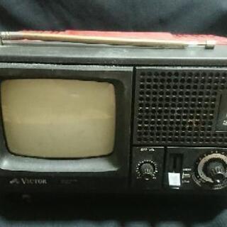 Victor ポータブルテレビ 5T-26V 昭和レトロ 43年前