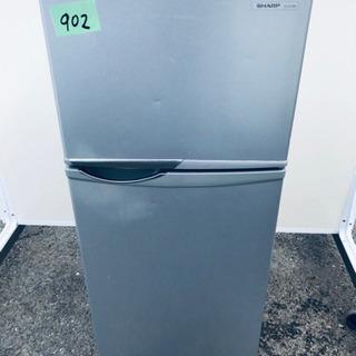 902番 シャープ✨ノンフロン冷凍冷蔵庫✨SJ-H12W-…