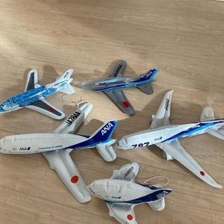 ANA ビニール製飛行機5つ