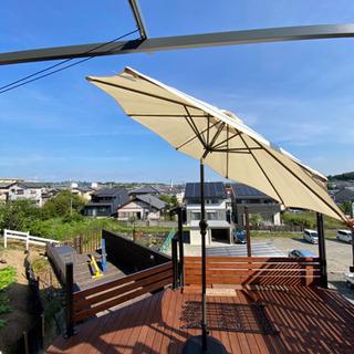 ガーデンパラソル 270cm ベース付き