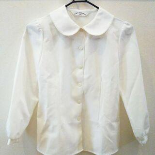 子供服 130 白 長袖ブラウス フォーマル