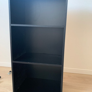 カラーボックス  三段   ブラック