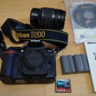 D200 Nikon 一眼レフ 美品 28-300mm レンズ付きの画像