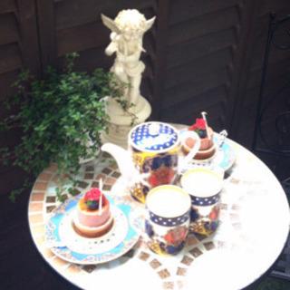 美品‼️ ガーデンテーブル タイル
