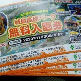 城島高原パーク無料入場券+お食事割引券