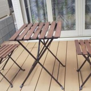 IKEA(イケア)ガーデンテーブルセット