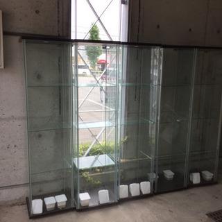 デトルフ IKEA 収納 家具 ガラス製 1個から5個まで