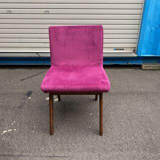 チェア 椅子 パープル ファブリック 中古品
