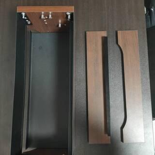 【ネット決済・配送可】ウッド調 ケーブルボックス (電源タップ収...