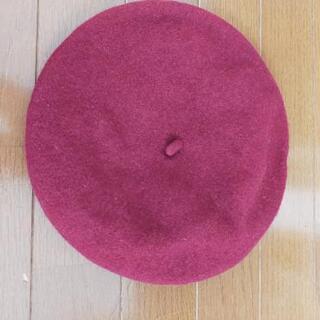 淡い赤みのベレー帽!❣