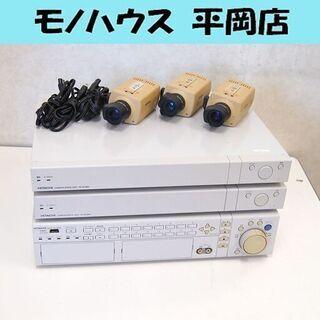 店舗用品  防犯カメラ 日立 カメラ駆動ユニット×2 デジタルレ...