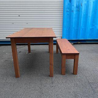 ダイニングテーブル テーブル 作業台 茶 木製テーブル 中古品