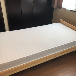 MUJI 無印良品 シングルベッド& マットレス 美品