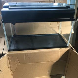 GEX 60センチ水槽(中古) 新品蛍光灯付き!