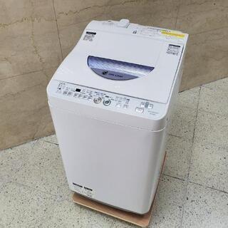 ■配送可■シャープ SHARP 5.5kg 全自動洗濯機 乾燥機能付き ES-TG55L 2014年製の画像
