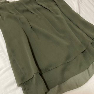 カーキ 膝丈 スカート サイズ36