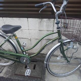 自転車 緑 26型 アジェンダ ママチャリ