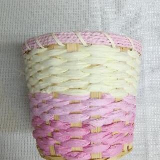 未使用品 竹製品 植木鉢カバー