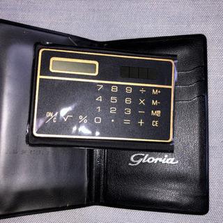 ソーラー式薄型カード型電卓 手帳タイプ 未使用品