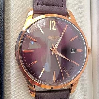 【新品同様】HENRY LONDON HAMPSTEAD 腕時計...