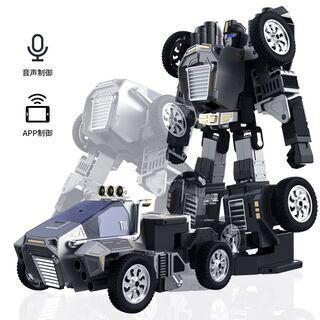 プログラミング学べる 人車変形 知育ロボット STEM教育 二足...