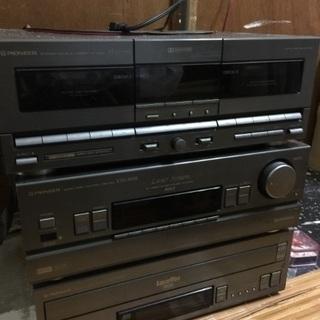 【至急引取希望】中古品!パイオニアレーザーディスク音響システムセット