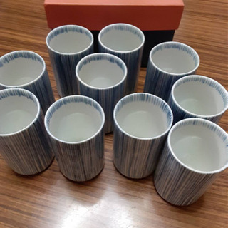 たち吉の湯呑み(10個セット)