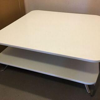 【IKEA】 IMFORS コーヒーテーブル 白・正方形