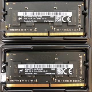 MicronノートPC用メモリ 4GBx2枚 DDR4-2666...