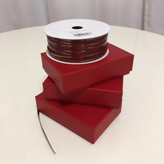 トリュフケース 3個セット レッド 6個用 ラッピングボックス