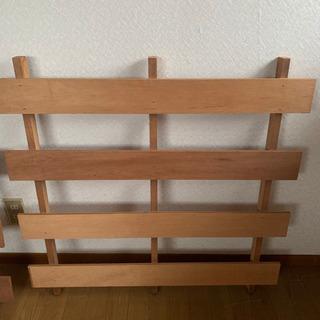 再値下げ 木製スノコ 2枚組 - 富山市