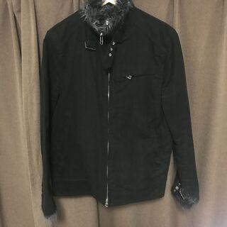 HARE メンズジャケット黒 ファー付き  Mサイズ