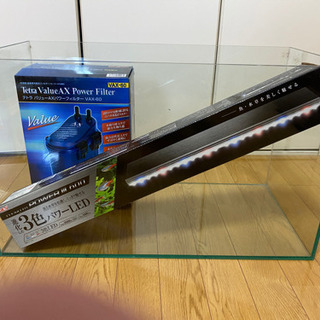 60センチ水槽 フィルター、照明セット