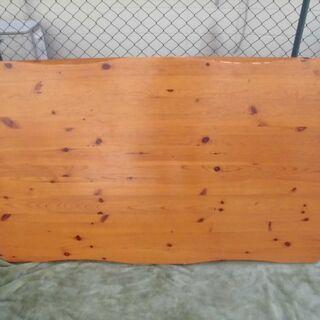 JM8376) ローテーブル  脚取り外し可能 木目 幅:約14...