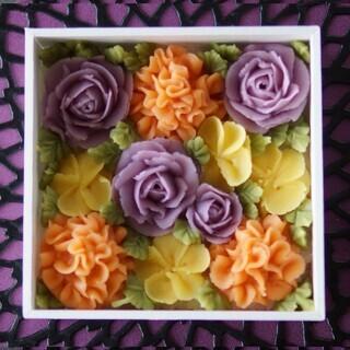 彩り鮮やかフラワーおはぎBOX作り