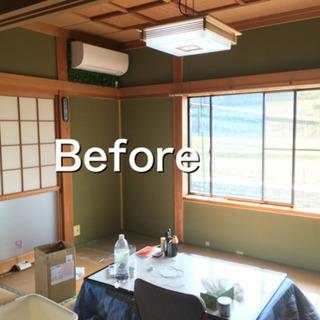 普通の和室→モダンな和室へ 和室の土壁を白色塗装いたします。 − 京都府