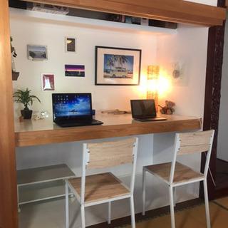 普通の和室→モダンな和室へ 和室の土壁を白色塗装いたします。