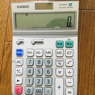 CASIOカシオ 12桁電卓 DF-120GT 簿記 電験 経理 ①