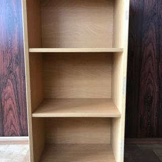 🌸お話中です/三段ボックス(木製)