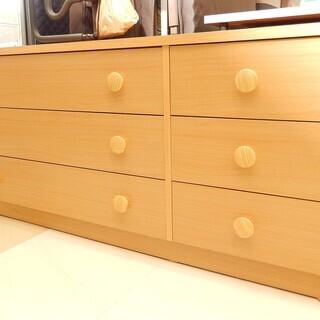 ローチェスト 木製 3段タイプ 幅132cm 美品 札幌市清田区