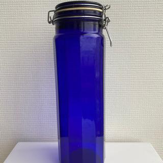 保存瓶 ブルー