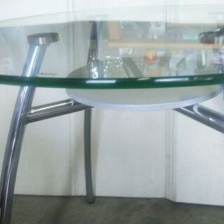 高級丸型ガラステーブル