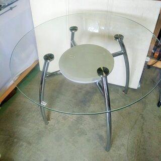 高級丸型ガラステーブル - 小山市