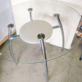 高級丸型ガラステーブル − 栃木県