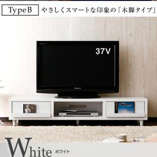 テレビ台(白) 木目調