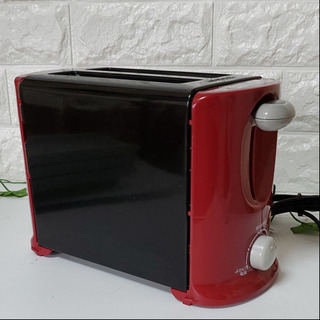 【赤がかわいい キッチン用品】山善トースター ポップアップ…