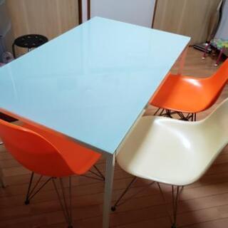 ダイニングセット ガラステーブル