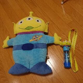 【Disney】リトルグリーンメン クッション&おもちゃ