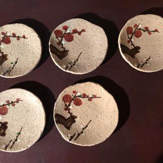 梅柄お皿5枚セット